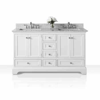 60'' - White / Italian Carrara Top - Display View