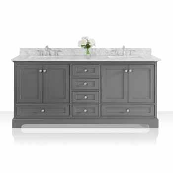 72'' - Sapphire Gray / Italian Carrara Top - Display View