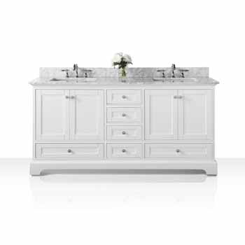 72'' - White / Italian Carrara Top - Display View