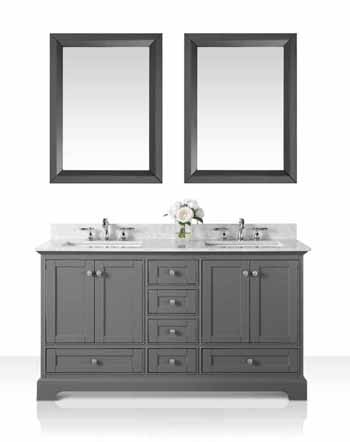60'' Sapphire Gray / Italian Carrara Top - Display View