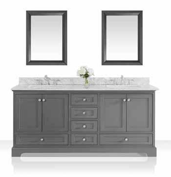 70'' Sapphire Gray / Italian Carrara Top - Display View