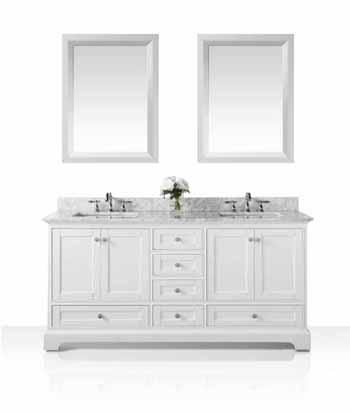 70'' White / Italian Carrara Top - Display View