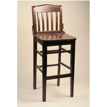 Alston School House Beechwood Bar Stool with Wood Seat