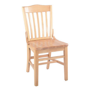 Alston School House Beechwood Chair with Wood Seat