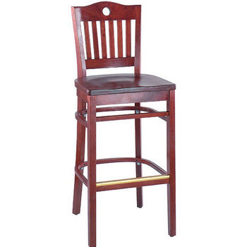 Alston Port Wood Bar Stool with Back
