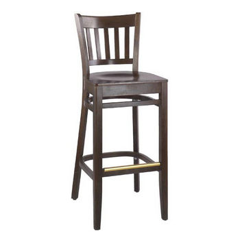 Alston Legacy Slatback Bar Stool with Wood Seat