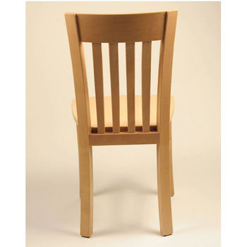 Alston Infiniti Chair with Slat Back and Wood Seat