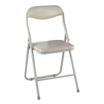 Alston Metal Folding Chair with Vinyl Padded Seat and Back