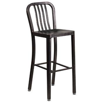 Bar Height- Black Antiqued