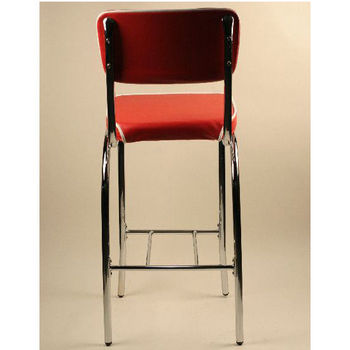 Alston Retro Dining Bar Stool with Chrome Frame and Vinyl Seat and Back
