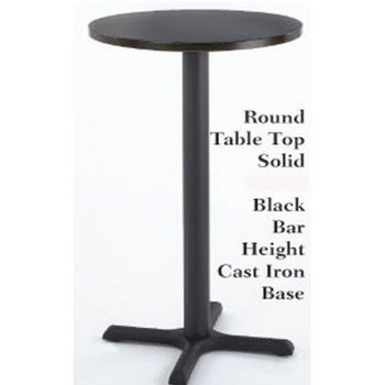 "Black 24"" Dia. Round Laminate Table Top by Alston"