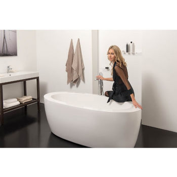 Aquatica PureScape™ Freestanding Oval Acrylic Bathtub, High Gloss White