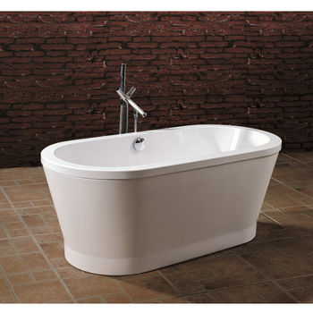 Aquatica PureScape™ Freestanding Oval Acrylic Bathtub, High Gloss White