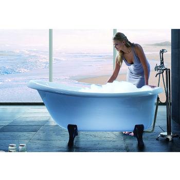Aquatica Nostalgia™ Freestanding Cast Stone Unique-Shaped Bathtub, High Gloss White