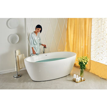 Aquatica Sensuality™ Freestanding Oval Solid Surface Bathtub, Matte White