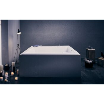 Aquatica Lacus™ Drop-In Square Acrylic Bathtub, High Gloss White