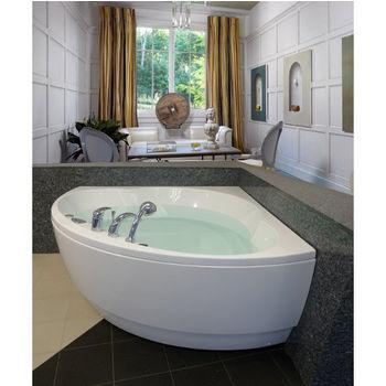 Aquatica Cleopatra™ Corner Acrylic Bathtub, High Gloss White