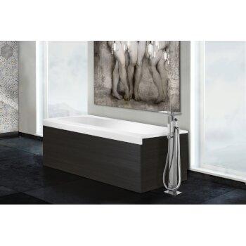 Aquatica PureScape AquateX™ Pure 1D™ Back To Wall Rectangular Solid Surface Bathtub, Matte White