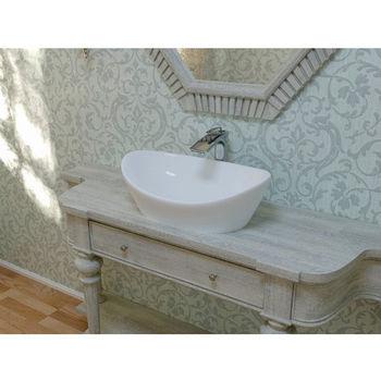 Aquatica Luna™ Oval Stone Lavatory, High Gloss White