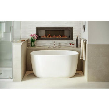 Aquatica PureScape AquateX™ Small Freestanding Oval Solid Surface Bathtub, Matte White