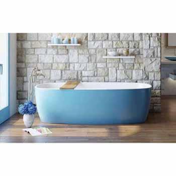 Blue Outside White Inside Bathtub