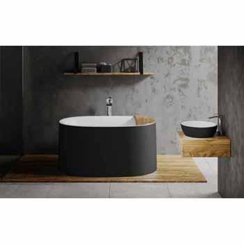 Black Outside White Inside Bathtub