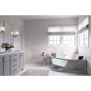 "ARIEL Two Person Whirlpool Bathtub, White, 61-13/32""W x 61-13/32""D x 29-1/2""H"