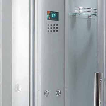 """ARIEL Platinum Fuly Loaded Two Person Steam Shower Unit, Black, 59""""W x 59""""D x 88-19/32""""H"""