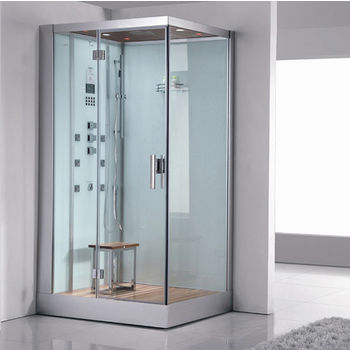 "ARIEL Platinum Collection Steam Shower, Left Side in White, 47"" W x 35-2/5"" D x 89"" H"