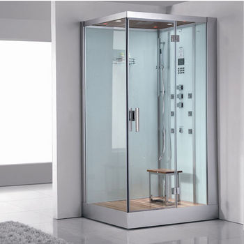 "ARIEL Platinum Collection Steam Shower, Right Side in White, 47"" W x 35-2/5"" D x 89"" H"