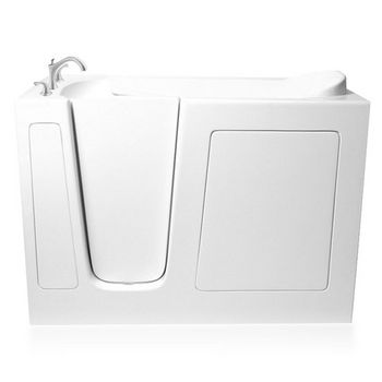 """ARIEL EZWT Collection Dual Series Walk-In Tub, Left Side in White, 51"""" W x 26"""" D x 38"""" H"""