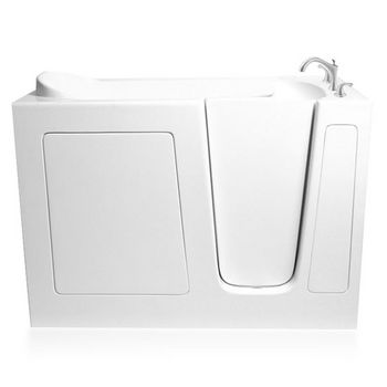 """ARIEL EZWT Collection Soaker Series Walk-In Tub, Right Side in White, 51"""" W x 26"""" D x 38"""" H"""