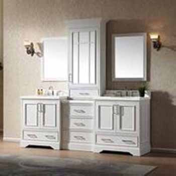 Stafford Bathroom Vanity With Tall Mirrored Medicine Cabinet By Ariel Kitchensource Com