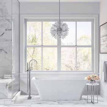 "ARIEL Platinum Sedona 67"" Freestanding Bathtub, White"