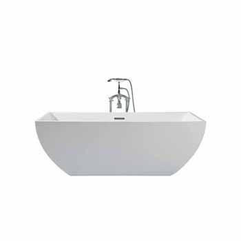 "ARIEL Platinum Chelsea 67"" Freestanding Bathtub, White"