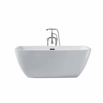 "ARIEL Platinum Aurora 63"" Freestanding Bathtub, White"
