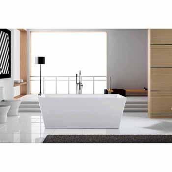 "ARIEL Platinum Verona 63"" Freestanding Bathtub, White"