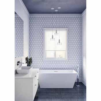 "ARIEL Platinum Verona 67"" Freestanding Bathtub, White"