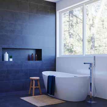 "ARIEL Platinum Valencia 70"" Freestanding Bathtub, White"