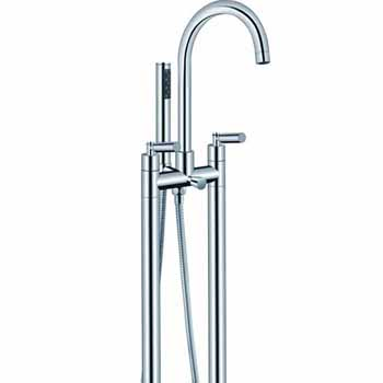 ARIEL 2-Handle Freestanding Roman Tub Faucet with Hand Shower in Chrome