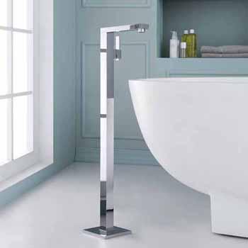 ARIEL Single-Handle Freestanding Roman Tub Faucet in Chrome