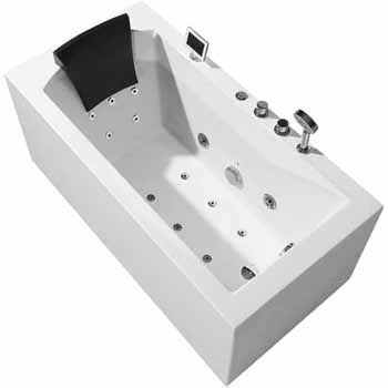"""ARIEL Platinum 59"""" Whirlpool Right Drain Rectangular Bathtub, White, 59""""W x 29-1/2""""D x 24-29/32""""H"""