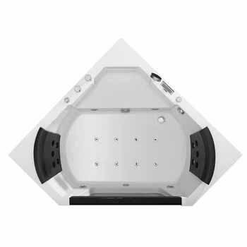 "ARIEL Platinum Whirlpool Bathtub, White, 59-19/32""W x 59-19/32""D x 23-45/64""H"