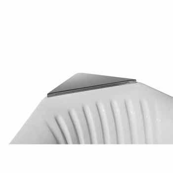 "ARIEL Platinum Whirlpool Bathtub, White, 59-19/32""W x 59-19/32""D x 32-45/64""H"