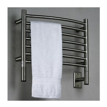 Amba Towel Warmers Jeeves Model H Curved, Brushed Finish