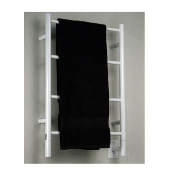 Amba Towel Warmers Jeeves Model I Straight, White Finish