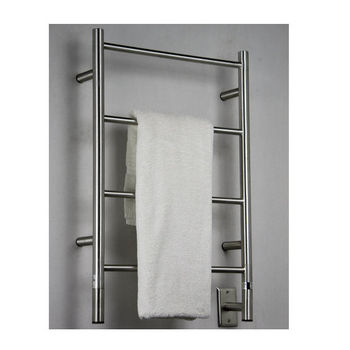 Amba Towel Warmers Jeeves Model I Straight, Brushed Finish