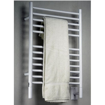 Amba Towel Warmers Jeeves Model E Straight, White Finish