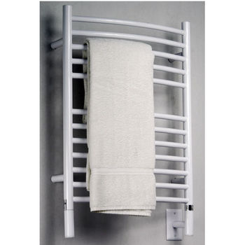 Amba Towel Warmers Jeeves Model E Curved, White Finish