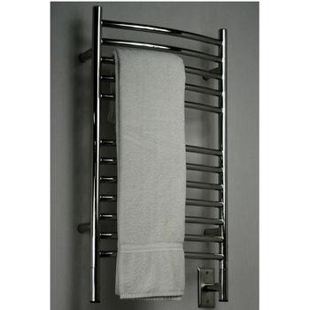 Amba Towel Warmers Jeeves Model E Curved, Polished Finish
